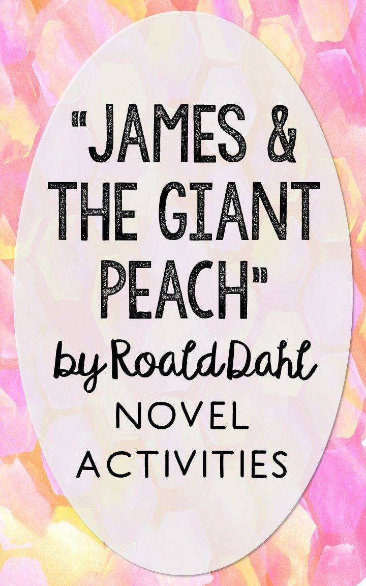 James and the Giant Peach. This NO-PREP resource is perfect if you're looking for novel activities that are engaging and demonstrate comprehension WITHOUT multiple choice tests! This unit includes vocabulary terms, poetry, author biography research, themes, character traits, one-sentence chapter summaries, and note taking activities. You'll also find an author quote poster, a tri-fold bookmark, and character/vocabulary wall cards (plus EDITABLE cards!).