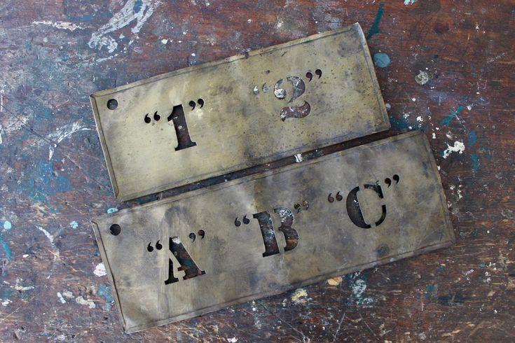 vintage crate stencils / rustic patina / tippleandsnack