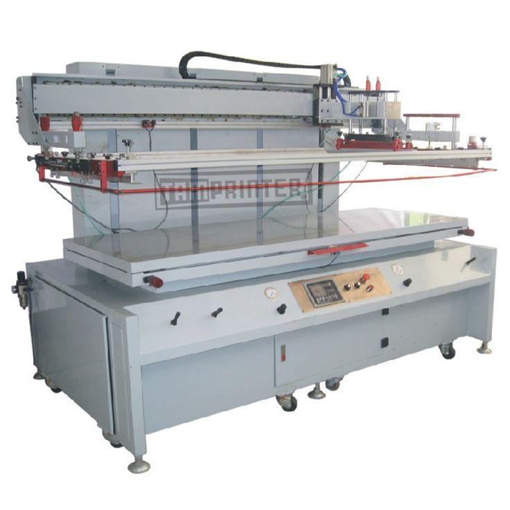 Large flat glass screen printing machine.