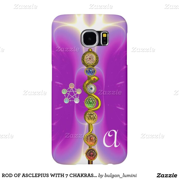 ROD OF ASCLEPIUS WITH 7 CHAKRAS ,SPIRITUAL ENERGY SAMSUNG GALAXY S6 CASES