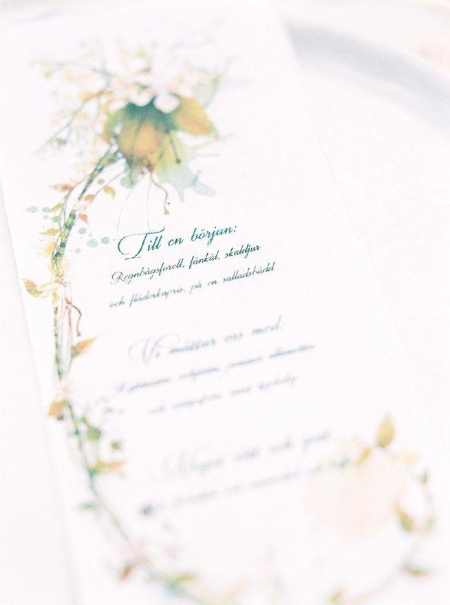 är menyn nödvändig på ett bröllop?