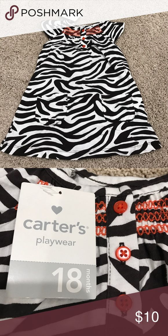 NWT Carter's Zebra Print Dress NWT Carter's Zebra Print Dress. Comes with matching diaper cover. From a smoke free home. Carter's Dresses Casual