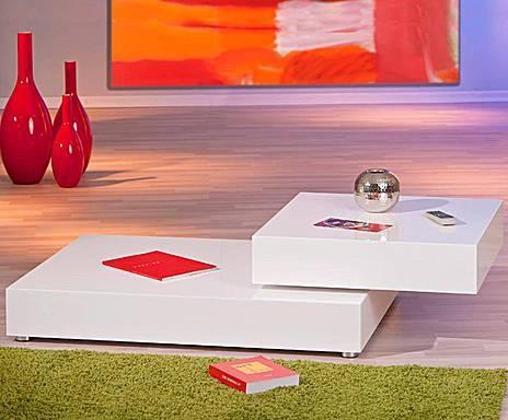 Mini-Wohnung, Maxi-Wirkung: Couchtisch Valdero, weiß