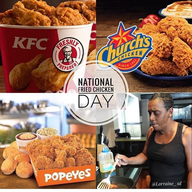 Happy National Fried Chicken Day!! 😊 + And RIP Auntie Fee still so shocking!! #TakenTooSoon