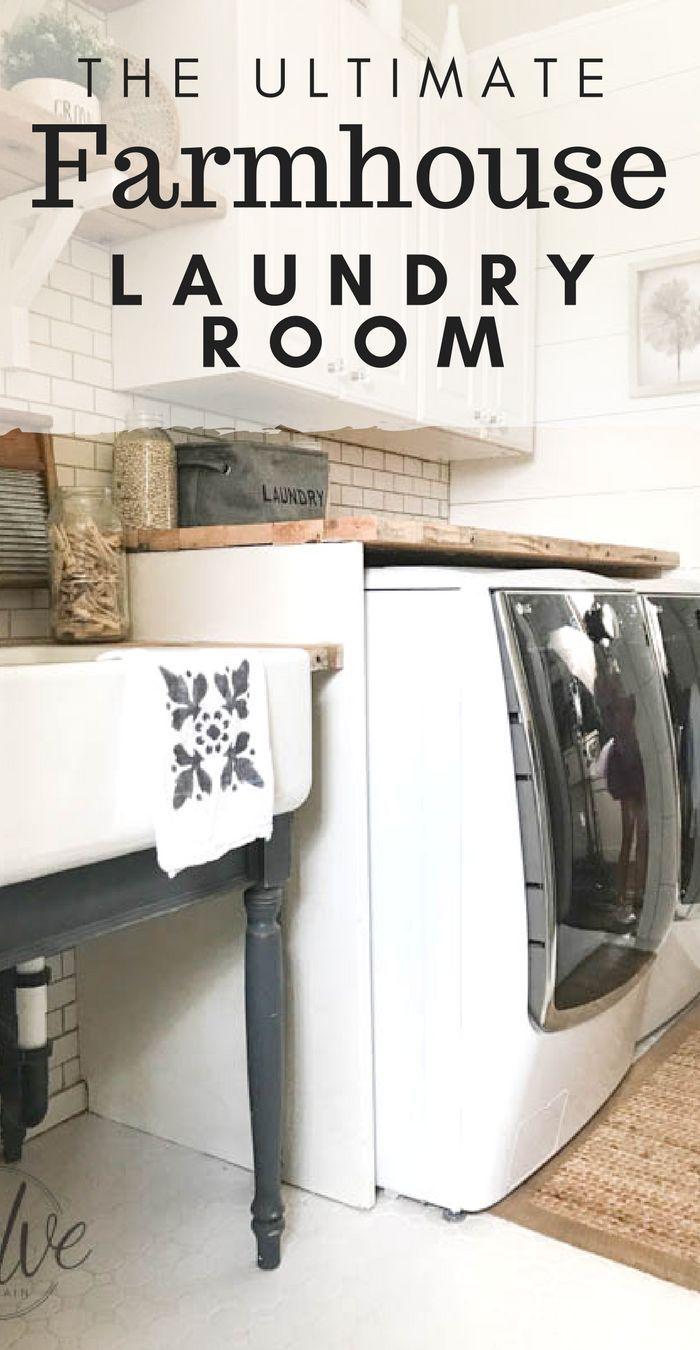 My Farmhouse Laundry Room One Year