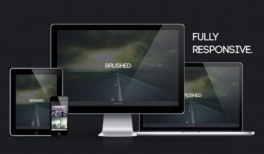 brushed 10 Plantillas web HTML5 responsivas gratis