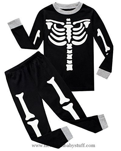 Baby Boy Clothes IF Pajamas Baby Boys Skeleton Halloween Pajamas Sets Long Sleeve Kids Toddler Pjs Size 12-18 Months