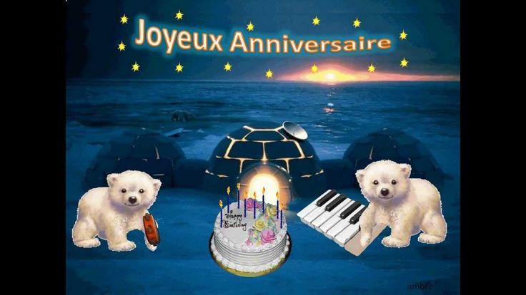 Bonne fête par des ours polaires Happy Birthday by polar bears Joyeux anniversaire-OURSONS-carte animée- Domaine de RABREUX-237