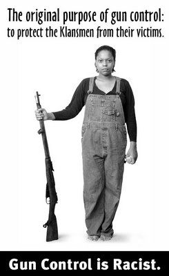 What?  Didn't you know that gun control is rooted in Jim Crow?  Yep.  EQUAL OPPORTUNITY GUN OWNERSHIP.