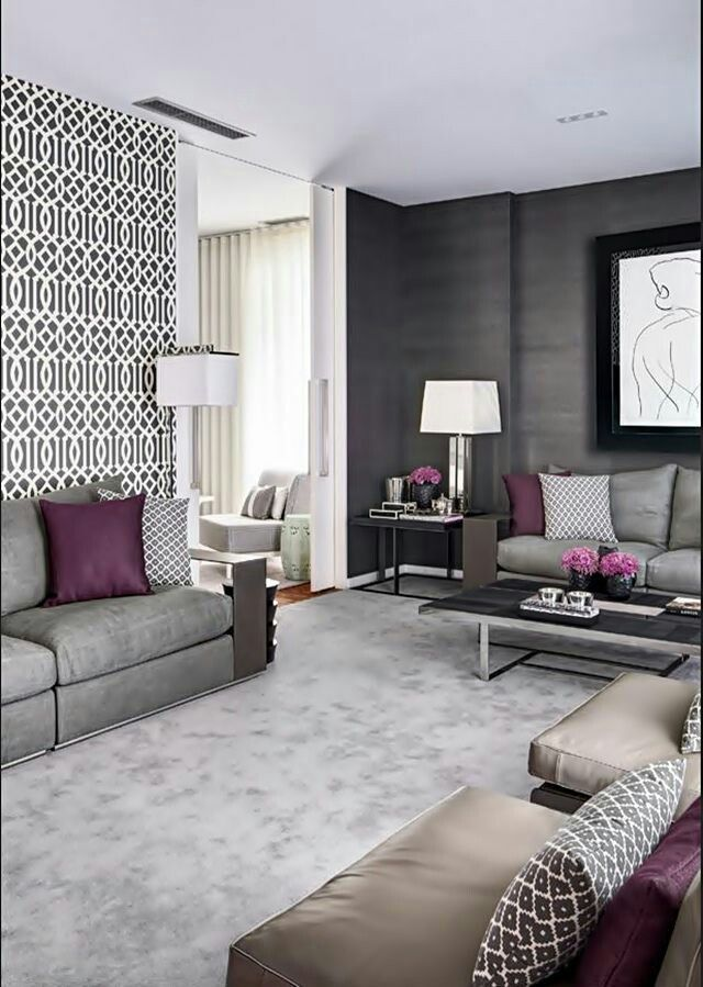 Dark Grey Grass Cloth Wall Paper Majlis Sofas Love