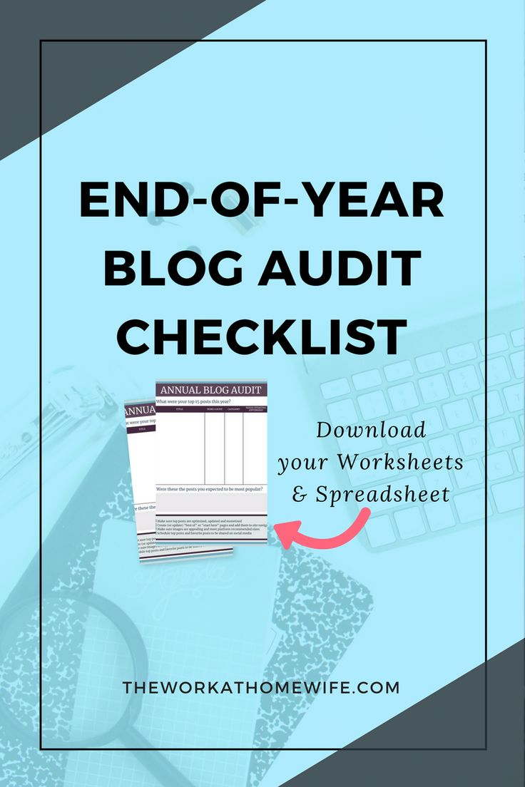 As the year comes to a close, this is a great time to look at your overall blogging trends, identify holes in your bucket and make a plan for the new year with this end-of-year blog audit checklist.