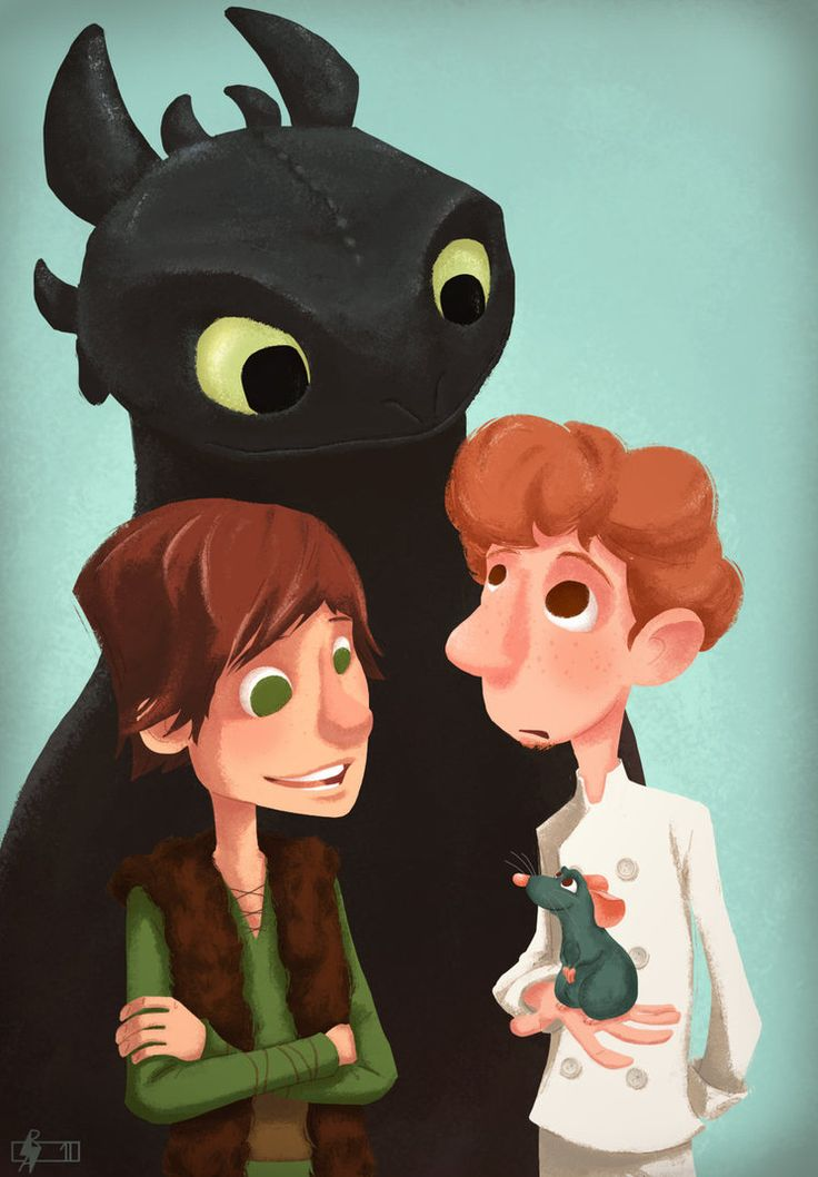 how to train your dragon / ratatouille   (   two of my favorite movies :D  )