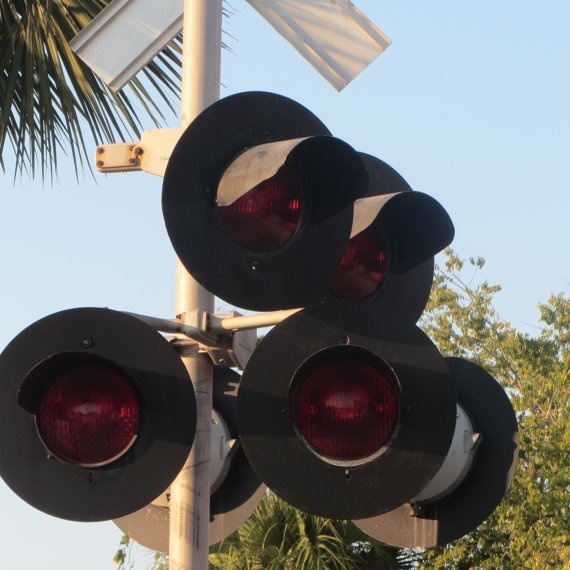 Railroad Crossing Lights at Fernandina 3 8X10 by CathyLindseyART, $7.95