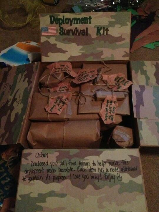 Sending one to my awesome friend when he ships out!...Care package ideas - deployment survival kit