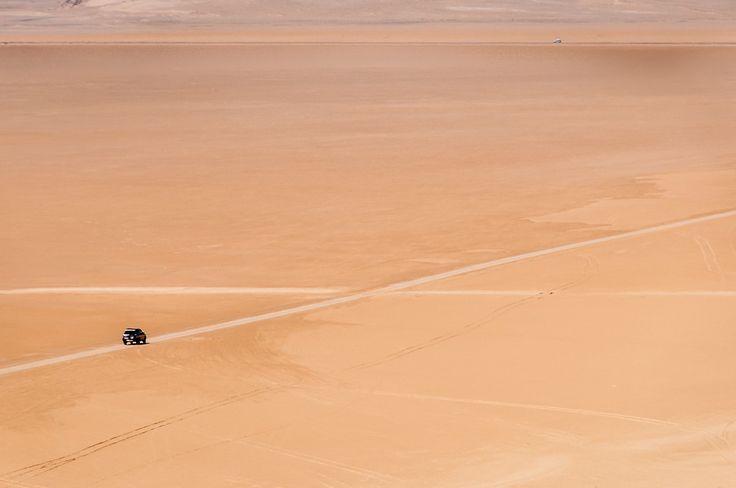 Driving Through the Desert in Western Sahara