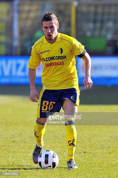 Francesco Signori of Modena in action during the Serie B match between Modena FC and FC Crotone at Alberto Braglia Stadium on February 5 2011 in...