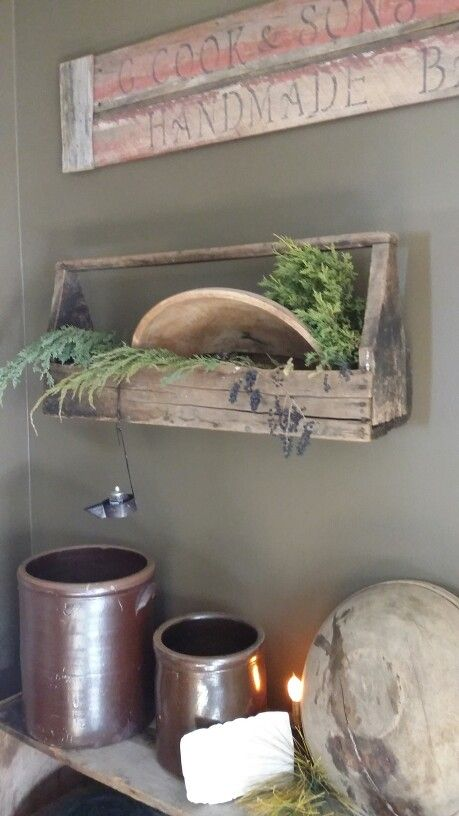 Neat old tool box...on the wall