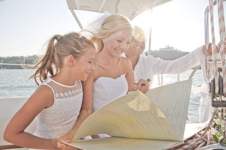 Wedding on the boat :)  #sailing #wedding #balaton #hungary #love