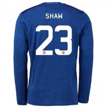 Manchester United 16-17 Luke Shaw 23 Bortatröja Långärmad   #Billiga  #fotbollströjor
