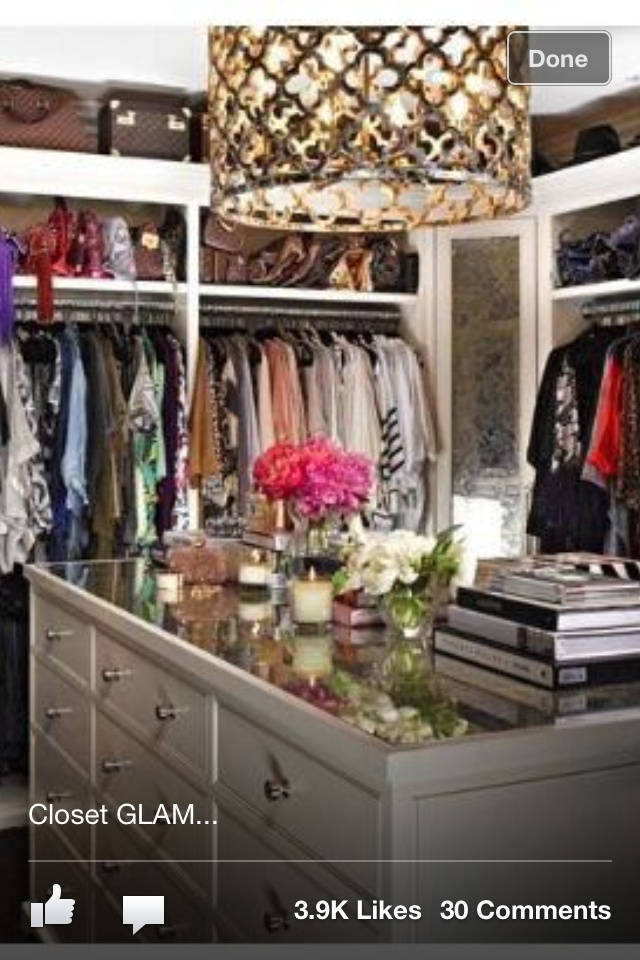 Closet - I like the lamp and the glass top