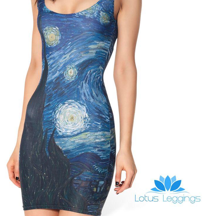Starry Night Sleeveless Dress Starry Night Dress Black