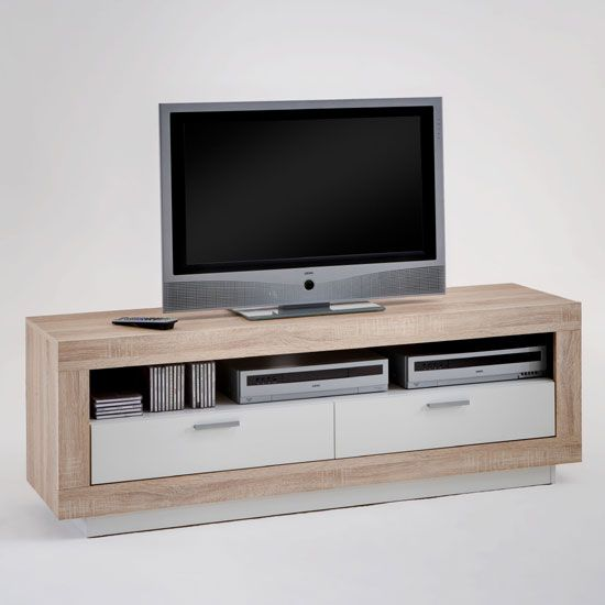 Chat Oak and White TV Stand Sale