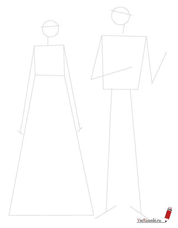 Как нарисовать русский народный костюм карандашом поэтапно