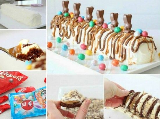No Bake Easter Chocolate Ripple Cake