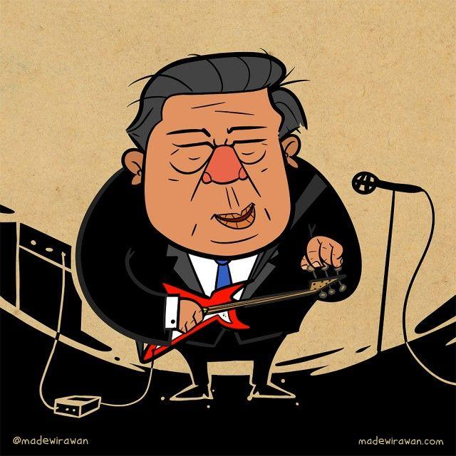Karikatur Pak Beye by @madewirawan  madewirawan.com  #caricature