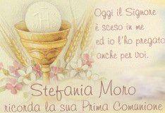 esempio stampa per biglietti Comunione Battesimo nascita Cresima