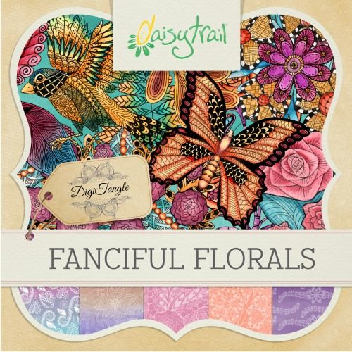 Digitangle: Fanciful Florals By DaisyTrail