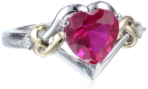 XPY Sterling Silver and 14k Yellow Gold Diamond and Heart-Shaped Created Ruby Ring (0.03 cttw, I-J Color, I3 Clarity), http://www.amazon.com/dp/B0043RTU52/ref=cm_sw_r_pi_awdm_vSx3sb0RD08KD