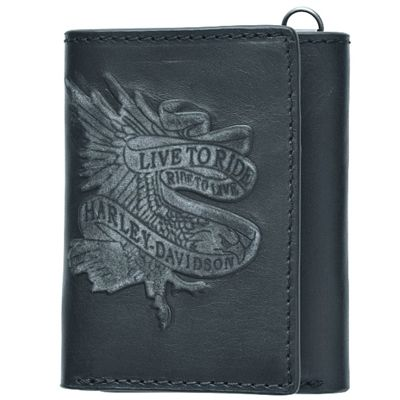 Live To Ride Tri-Fold Wallet -  Harley-Davidson