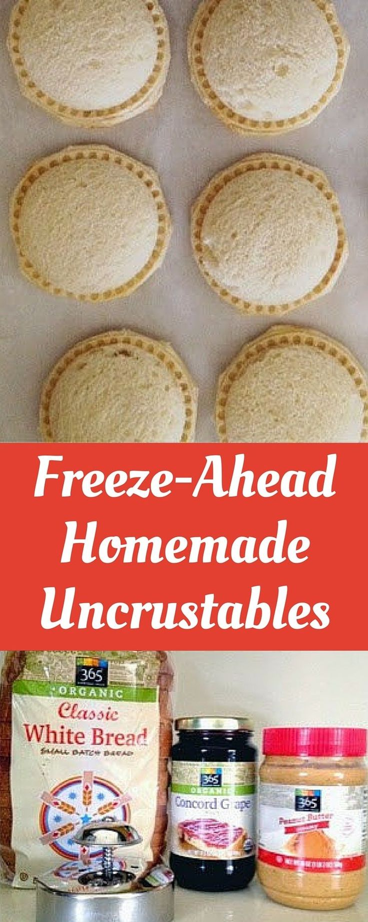 Perfect for back to school! This healthy version takes a few minutes to make and they freeze perfectly!