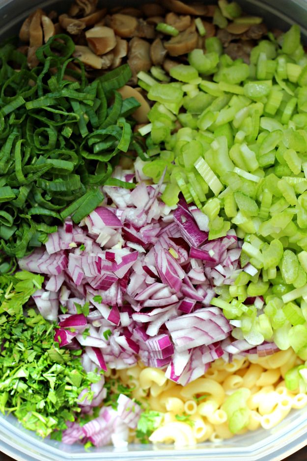 Macaroni Salad Ingredients for Pasta Salad Recipe