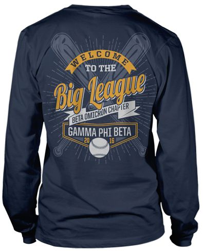 gamma phi beta bid day t shirts perfect for baseball themed bid day bid day recruitment. Black Bedroom Furniture Sets. Home Design Ideas