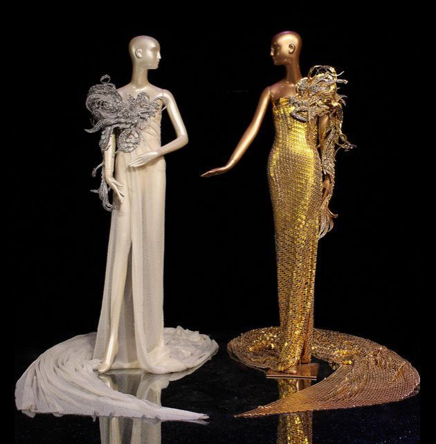Guo Pei, dresses from The Legend of the Dragon Fashion Show, 2012