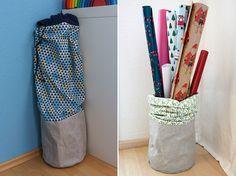 DIY-Anleitung: Geschenkpapier-Aufbewahrung