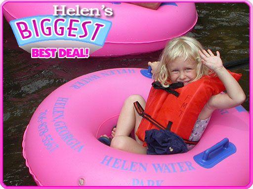 Helen GA Waterpark, Helen GA Tubing Flea Market Tubing
