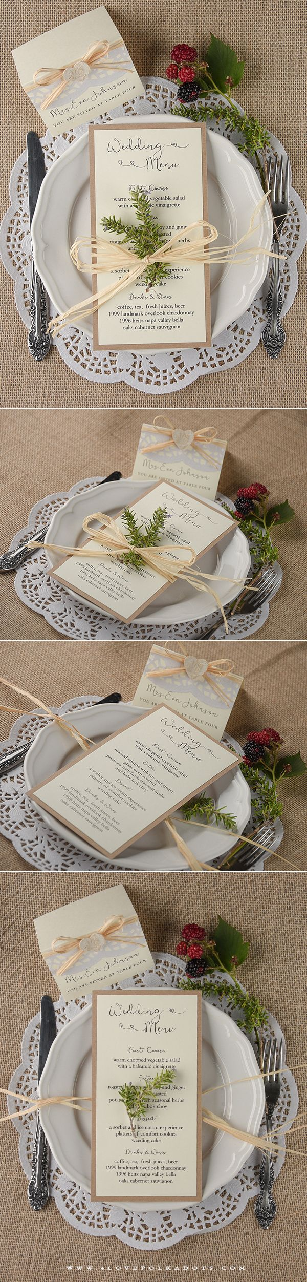 Wedding Menu Card 8 best Wedding Menus