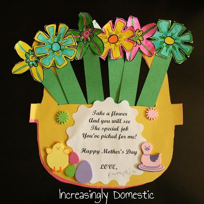 Increasingly Domestic: Paper Flower Coupons for Mothers Day