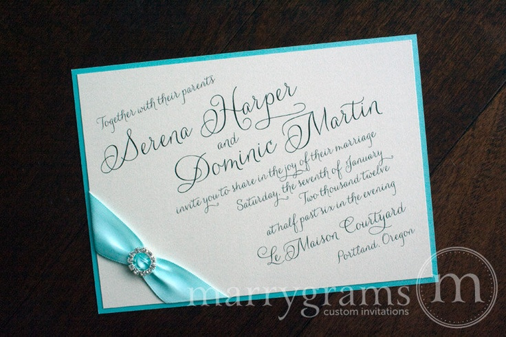 Classic wedding invitations for you Tiffany blue wedding invitations uk