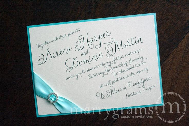 Classic wedding invitations for you Tiffany blue wedding invitations uk