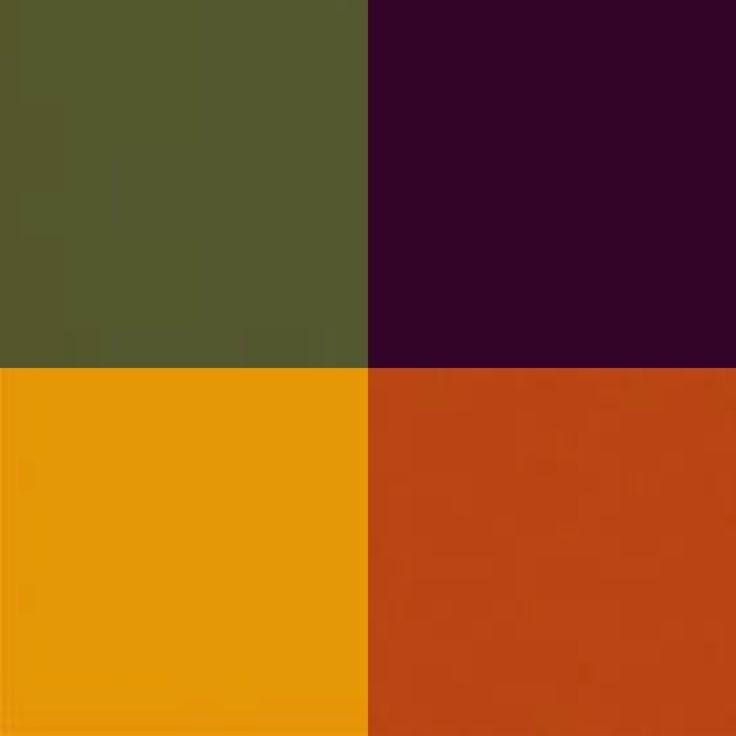 Olive Green, Plum Purple, Golden Yellow, Burnt Orange fall wedding colors