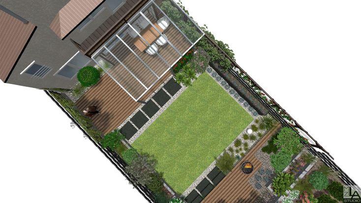 Projekt ogrodu nowoczesnego.