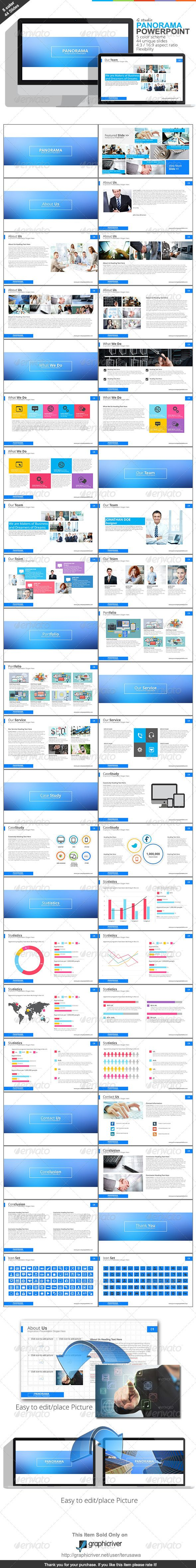 Gstudio Panorama Powerpoint Template - Business Powerpoint Templates