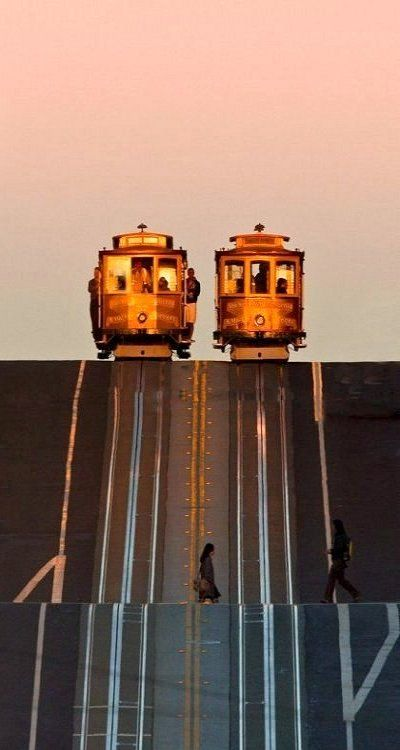 San Francisco cable cars, California, U.S.. cant wait to ride these again!!