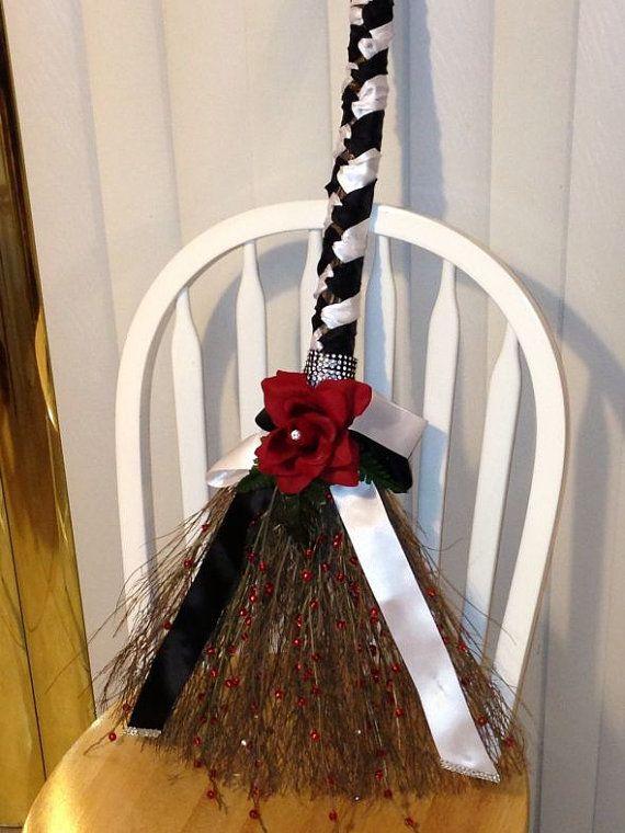 Elegant Wedding Broom Design for Jumping the Broom Wedding Traditions