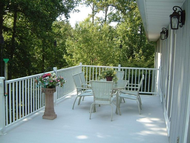 Aluminum deck railing ideas for Types of balcony