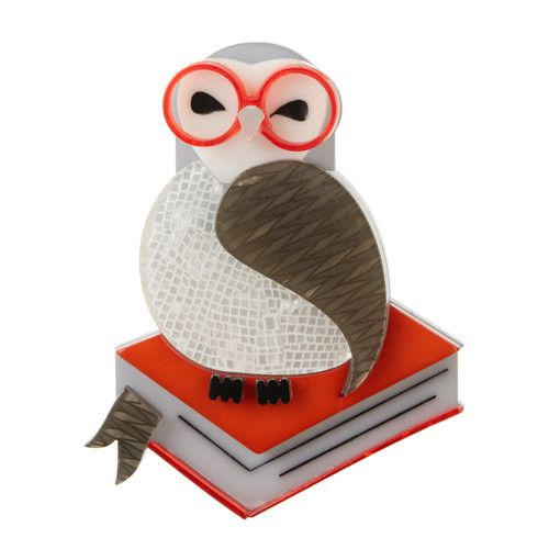 Erstwilder Limited Edition Studious Snow Owl Brooch; $34.95 (AUD)